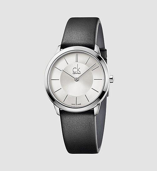 CALVINKLEIN Watch - Calvin Klein Minimal - SILVER / BLACK - CALVIN KLEIN WATCHES - main image