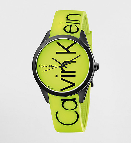 CALVINKLEIN Watch - Calvin Klein Color - YELLOW / BLACK - CALVIN KLEIN WATCHES - main image
