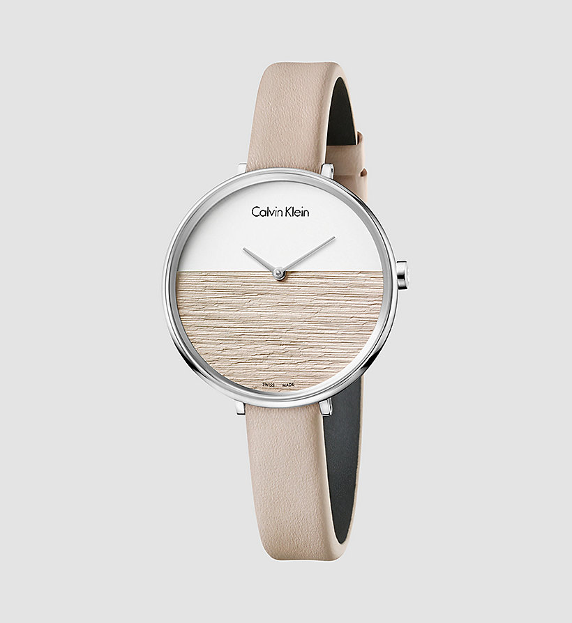 CALVINKLEIN Watch - Calvin Klein Rise - SILVER / BEIGE - CALVIN KLEIN SHOES & ACCESSORIES - main image