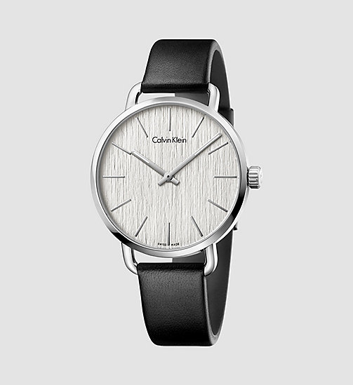 CALVINKLEIN EVEN - SILVER/BLACK - CALVIN KLEIN WATCHES - main image