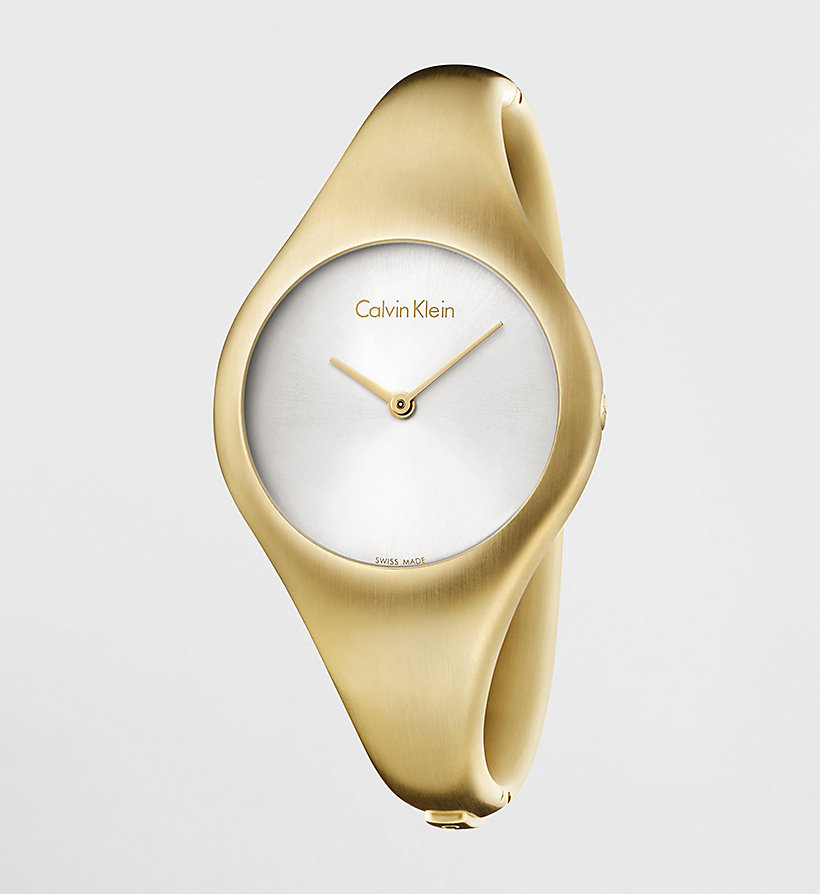 CALVINKLEIN Watch - Calvin Klein Bare - SILVER / YELLOW - CALVIN KLEIN SHOES & ACCESSORIES - main image