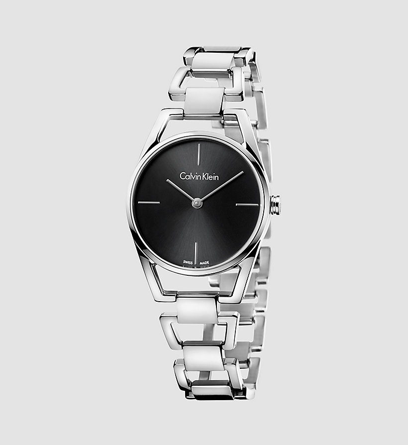 CALVINKLEIN Watch - Calvin Klein Dainty - SST / BLACK - CALVIN KLEIN SHOES & ACCESSORIES - main image