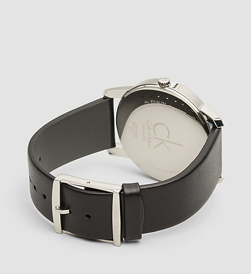 CALVINKLEIN Watch and Bracelet Gift Set - SST/ BLACK LEA / SILVER - CALVIN KLEIN SHOES & ACCESSORIES - detail image 1
