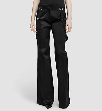CALVIN KLEIN COLLECTION Pantalon slim flare en soie 03542284CO001