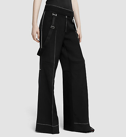 CALVIN KLEIN COLLECTION Wide Leg Wool Trousers 03542285CO958