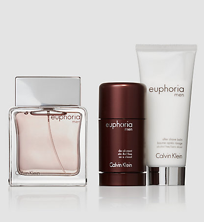 CALVIN KLEIN Euphoria Gift Set - EDT, Deo & After Shave Balm 6500069600000