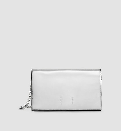 CALVIN KLEIN COLLECTION Metallic Calf Leather Clutch 97597162CO031