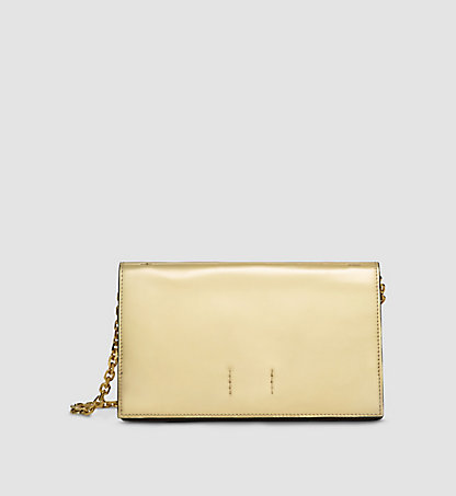 CALVIN KLEIN COLLECTION Metallic Calf Leather Clutch 97597162CO714