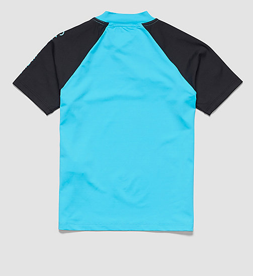 CALVINKLEIN Boys Rash Guard Shirt - BLUE ATOLL - CALVIN KLEIN BOYS - detail image 1