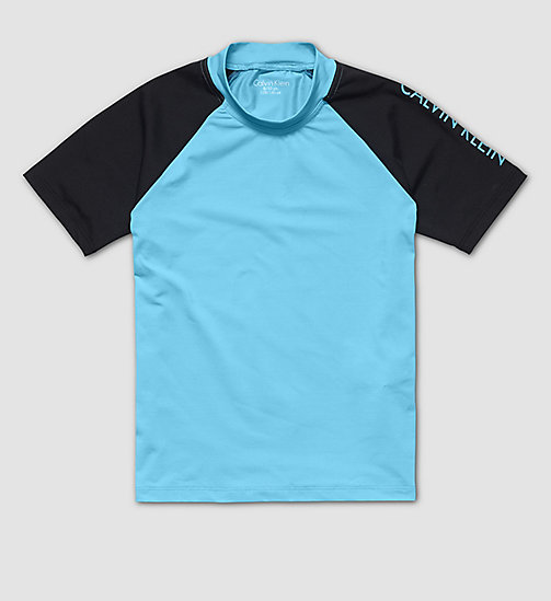 CALVINKLEIN Boys Rash Guard Shirt - BLUE ATOLL - CALVIN KLEIN  - main image