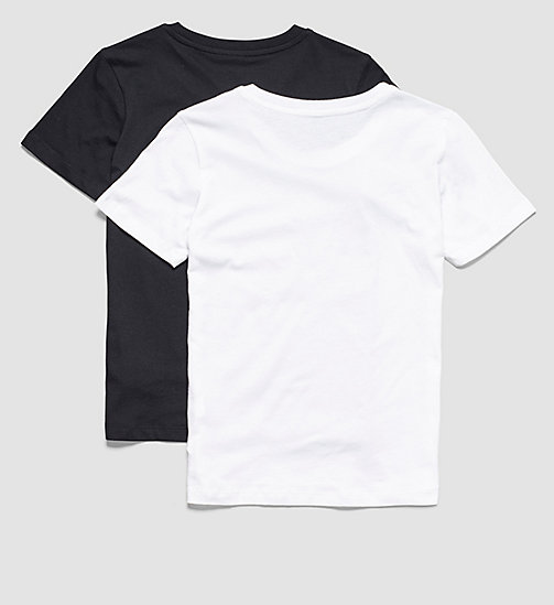 CALVINKLEIN 2 Pack Boys T-shirts - Modern Cotton - 1 CK SPRAY LG BLACK/ 1 WHITE - CALVIN KLEIN BOYS - detail image 1