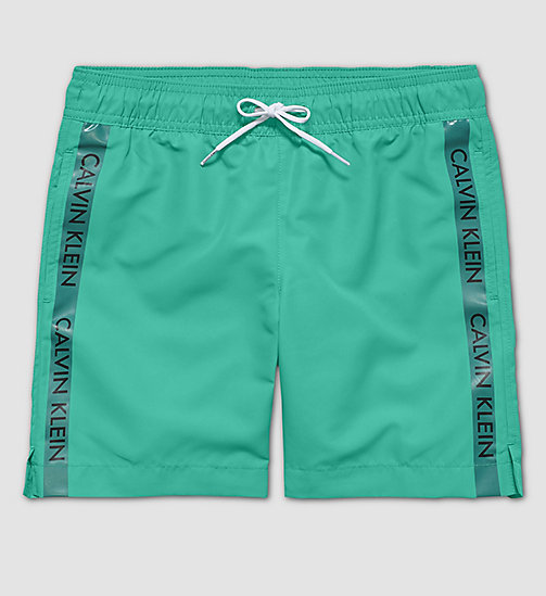CALVINKLEIN Boys Swim Shorts - Logo Tape - SIMPLY GREEN? 17-5936 - CALVIN KLEIN UNDERWEAR - main image