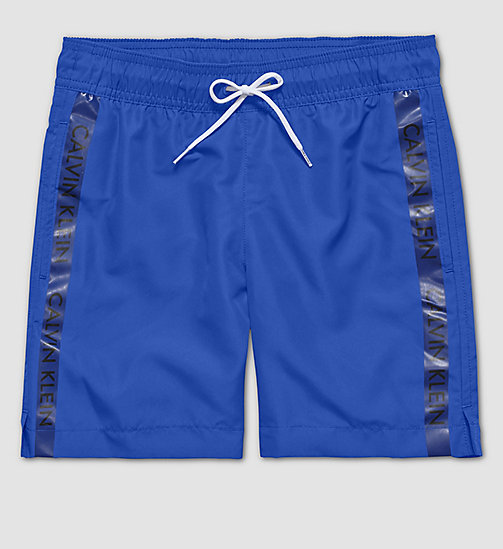CALVINKLEIN Boys Swim Shorts - Logo Tape - SURF THE WEB - CALVIN KLEIN UNDERWEAR - main image