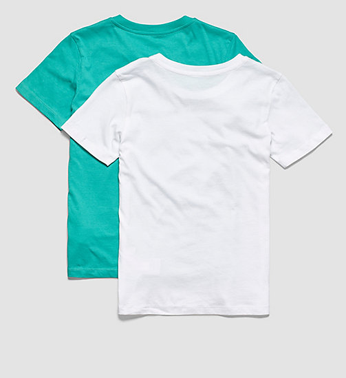 CALVINKLEIN 2 Pack Boys T-shirts - Intense Power - 1 VIVID GREEN/ 1 WHITE - CALVIN KLEIN BOYS - detail image 1