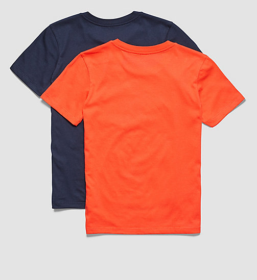CALVINKLEIN 2 Pack Boys T-shirts - Modern Cotton - 1 BLUE SHADOW/ 1 POPPY RED - CALVIN KLEIN MEN - detail image 1