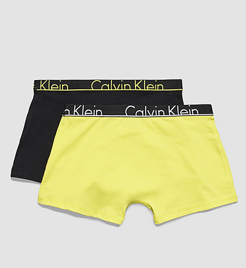 CALVINKLEIN 2 Pack Boys Trunks - Modern Cotton - 1 BLACK CK PLACED LOGO / 1 SULFUR SPRING - CALVIN KLEIN UNDERWEAR - detail image 1