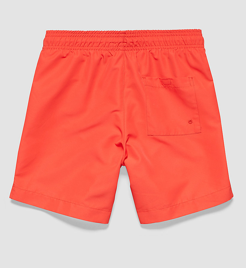 CALVINKLEIN Boys Swim Shorts - Intense Power - POPPY RED - CALVIN KLEIN UNDERWEAR - detail image 1