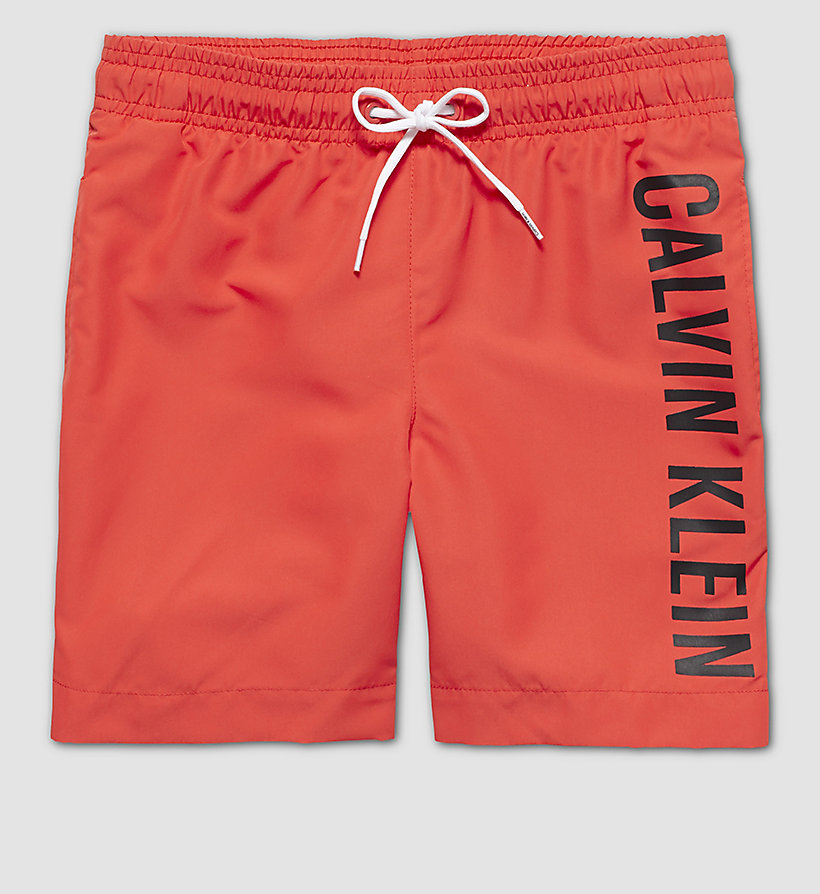 CALVINKLEIN Boys Swim Shorts - Intense Power - POPPY RED - CALVIN KLEIN UNDERWEAR - main image
