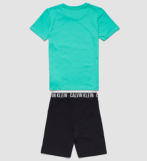 CALVINKLEIN Boys PJ Set - Intense Power - VIVID GREEN W/ BLACK - CALVIN KLEIN  - detail image 1