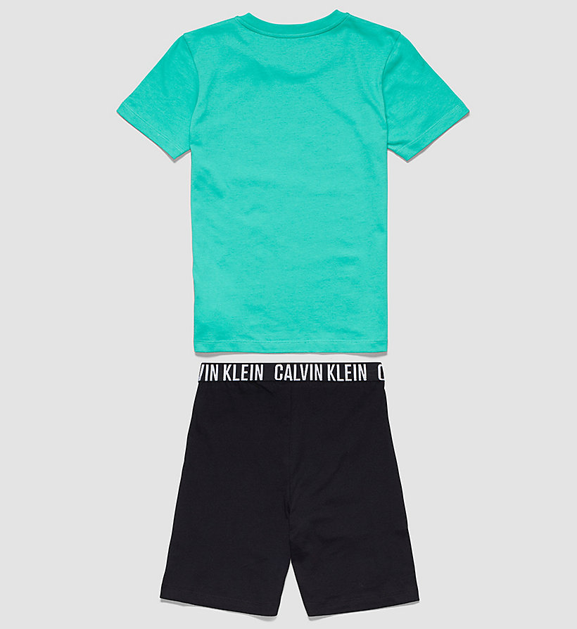 CALVINKLEIN Boys PJ Set - Intense Power - VIVID GREEN W/ BLACK - CALVIN KLEIN UNDERWEAR - detail image 1