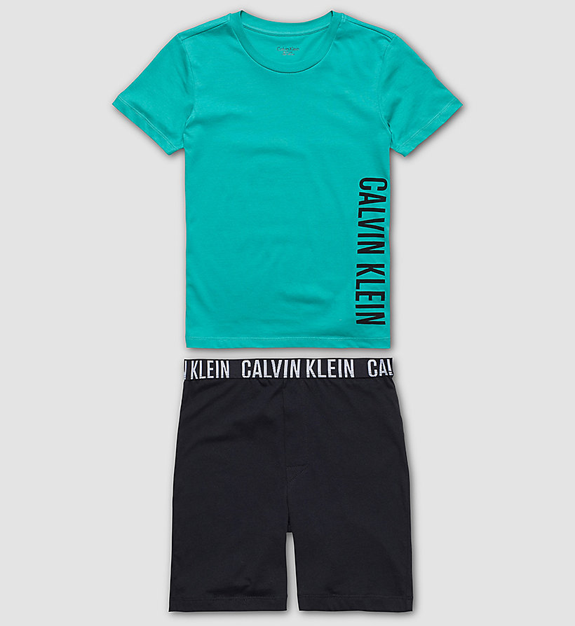 CALVINKLEIN Boys PJ Set - Intense Power - VIVID GREEN W/ BLACK - CALVIN KLEIN UNDERWEAR - main image