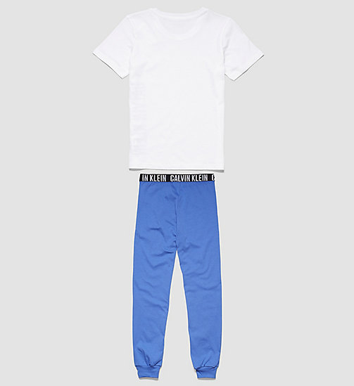 CALVINKLEIN Boys PJ Set - Intense Power - WHITE W/ DAZZLING BLUE - CALVIN KLEIN BOYS - detail image 1