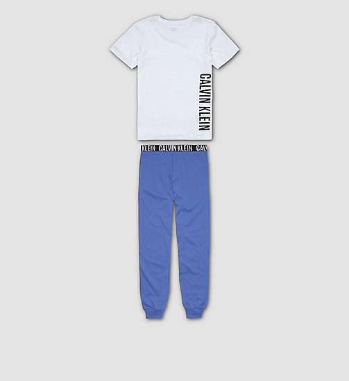 CALVINKLEIN Boys PJ Set - Intense Power - WHITE W/ DAZZLING BLUE - CALVIN KLEIN BOYS - main image