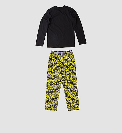 CALVINKLEIN Boys PJ Set - Calvin Klein ID - BLACK W/ CK SPRAY LG BLACK - CALVIN KLEIN Up to 50% - detail image 1