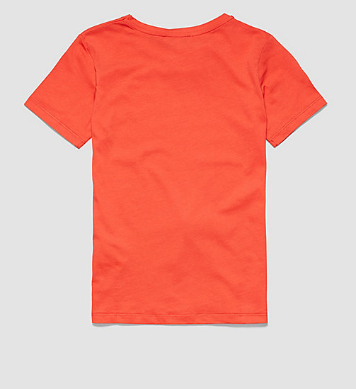 CALVINKLEIN Boys T-shirt - POPPY RED - CALVIN KLEIN  - detail image 1