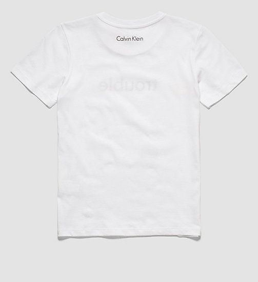 Statement Boys T-shirt - Modern Cotton - WHITE - CALVIN KLEIN T-SHIRTS - detail image 1