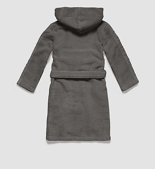 CALVINKLEIN Boys Robe - Modern Cotton - STEEL GREY - CALVIN KLEIN PYJAMAS - detail image 1