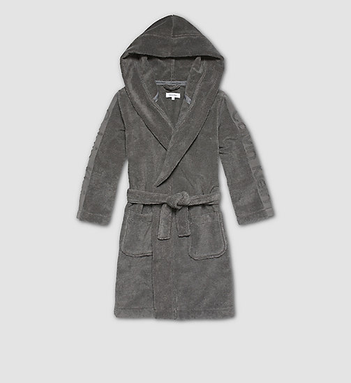 Boys Robe - Modern Cotton - STEEL GREY - CALVIN KLEIN MEN - main image