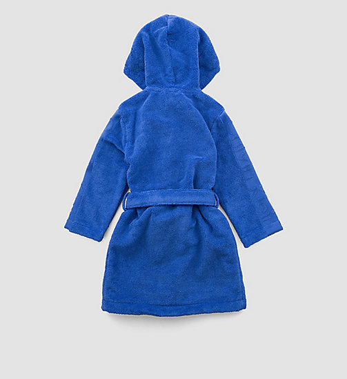 CALVINKLEIN Boys Bathrobe - Modern Cotton - DAZZLING BLUE - CALVIN KLEIN MEN - detail image 1