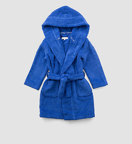 CALVINKLEIN Boys Bathrobe - Modern Cotton - DAZZLING BLUE - CALVIN KLEIN BOYS - main image