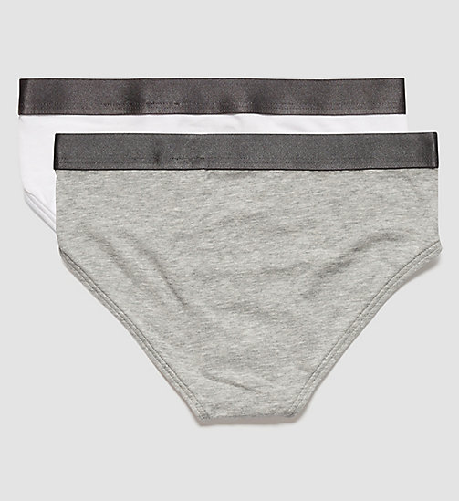 2 Pack Boys Briefs - Customized Stretch - 1 GREY HEATHER/ 1 WHITE - CALVIN KLEIN UNDERWEAR - detail image 1