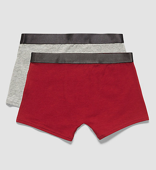 2 Pack Boys Trunks - Customized Stretch - 1 GREY HEATHER / 1 RHUBARB - CALVIN KLEIN UNDERWEAR - detail image 1