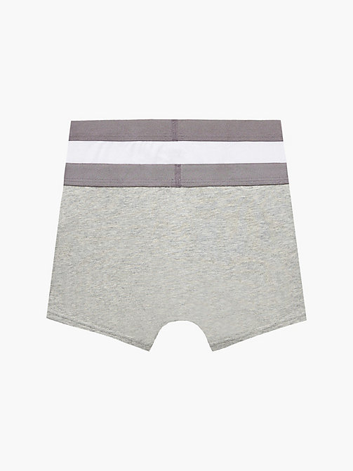 CALVINKLEIN Lot de 2 boxers pour garçon - Customized Stretch - 1 GREY HEATHER/ 1 WHITE - CALVIN KLEIN SOUS-VÊTEMENTS - image détaillée 1