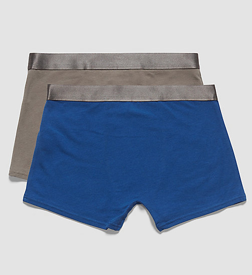 2 Pack Boys Trunks - Customized Stretch - 1 LIMOGES / 1 STEEL GREY - CALVIN KLEIN UNDERWEAR - detail image 1