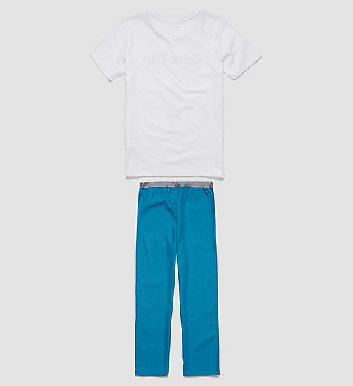 CALVINKLEIN Jungen-PJ-Hose - Customized Stretch - WHITE/CORSAIR - CALVIN KLEIN PYJAMAS - main image 1