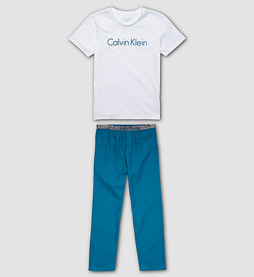 Boys PJ Set - Customized Stretch - WHITE/CORSAIR - CALVIN KLEIN UNDERWEAR - main image