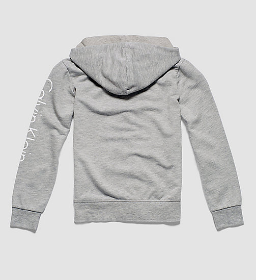Boys Hoodie - Modern Cotton - GREY HEATHER - CALVIN KLEIN UNDERWEAR - detail image 1
