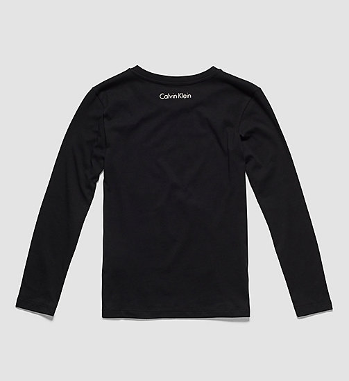 Statement Boys T-shirt - Modern Cotton - BLACK - CALVIN KLEIN BOYS - detail image 1