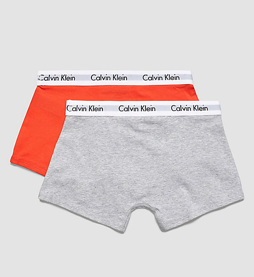 CALVINKLEIN 2 Pack Boys Trunks - Modern Cotton - 1 POPPY RED / 1 HEATHER GREY - CALVIN KLEIN BOYS - detail image 1