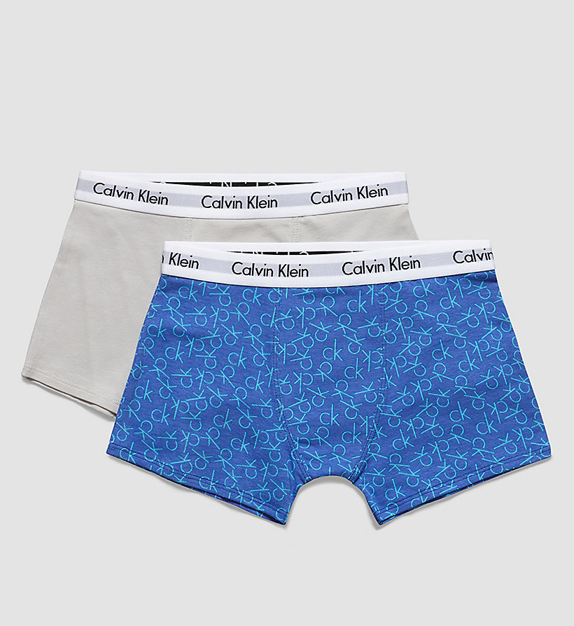 CALVINKLEIN 2 Pack Boys Trunks - Modern Cotton - 1 CK REPLAY DAZZLING BLUE / 1 GRAY VIOLE - CALVIN KLEIN MEN - main image