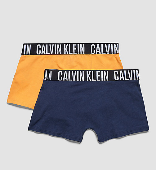 CALVINKLEIN 2 Pack Boys Trunks - Modern Cotton - 1 BLAZING ORANGE / 1 BLUE SHADOW - CALVIN KLEIN UNDERWEAR - detail image 1