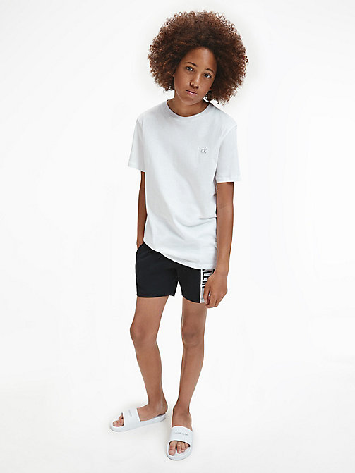 2 Pack Boys T-shirt - Modern Cotton - BLACK/WHITE - CALVIN KLEIN MEN - detail image 1