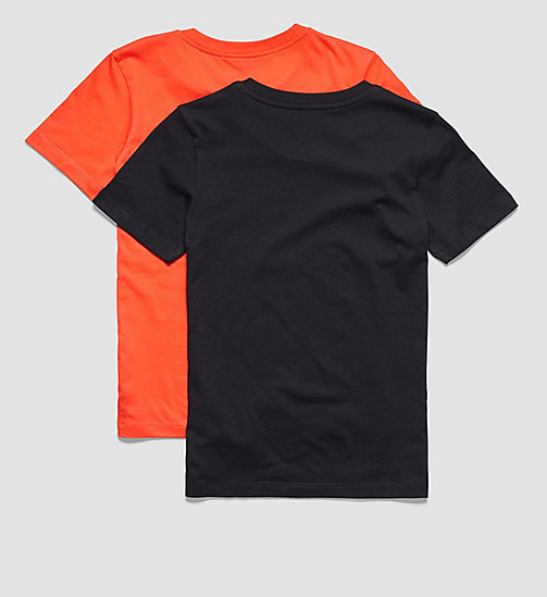 CALVINKLEIN 2 Pack Boys T-shirts - Modern Cotton - 1 POPPY RED / 1 BLACK - CALVIN KLEIN UNDERWEAR - detail image 1