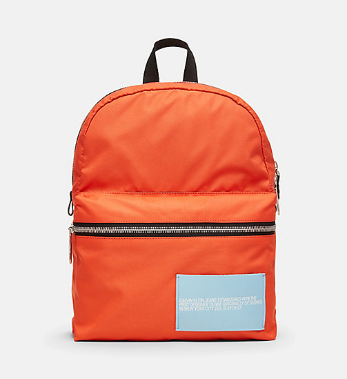 CALVINKLEIN Nylon Backpack - ORANGE - CALVIN KLEIN SHOES & ACCESSORIES - main image