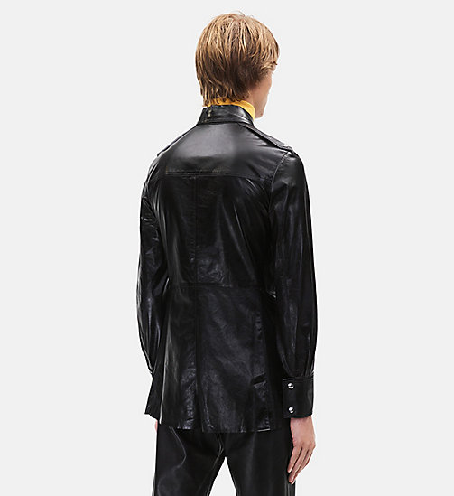 CALVINKLEIN Leather Uniform Shirt - BLACK - CALVIN KLEIN CLOTHES - detail image 1