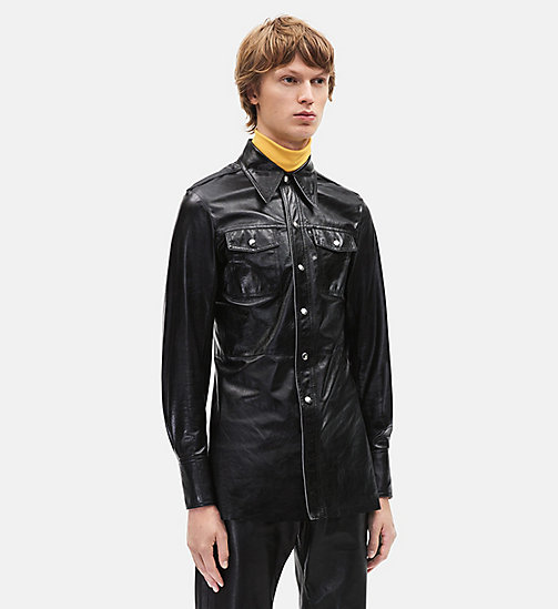 CALVINKLEIN Leather Uniform Shirt - BLACK - CALVIN KLEIN CLOTHES - main image